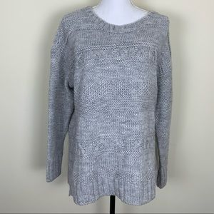 American Eagle Gray Oversized Sweater Sz L